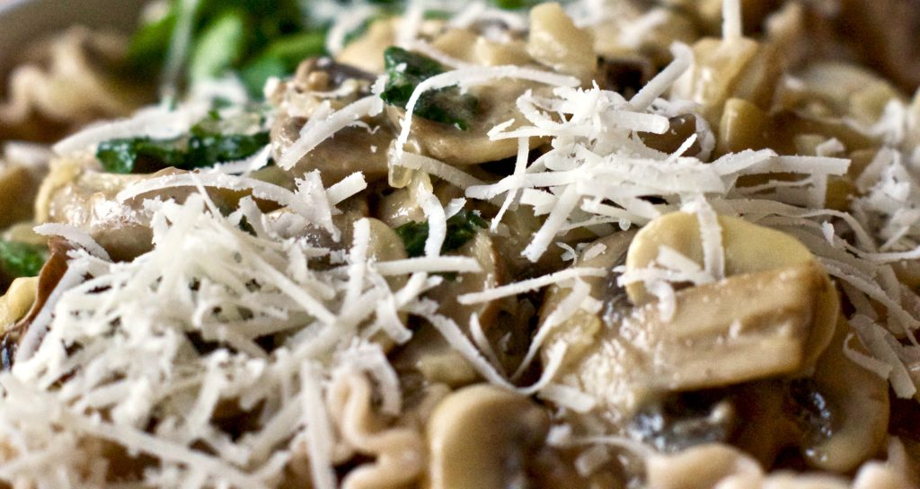 geschmorte Pilze mit Parmesan