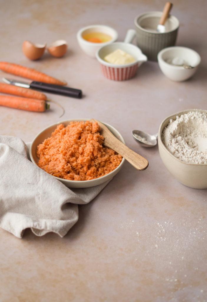 Zutaten für den Karottenkuchen