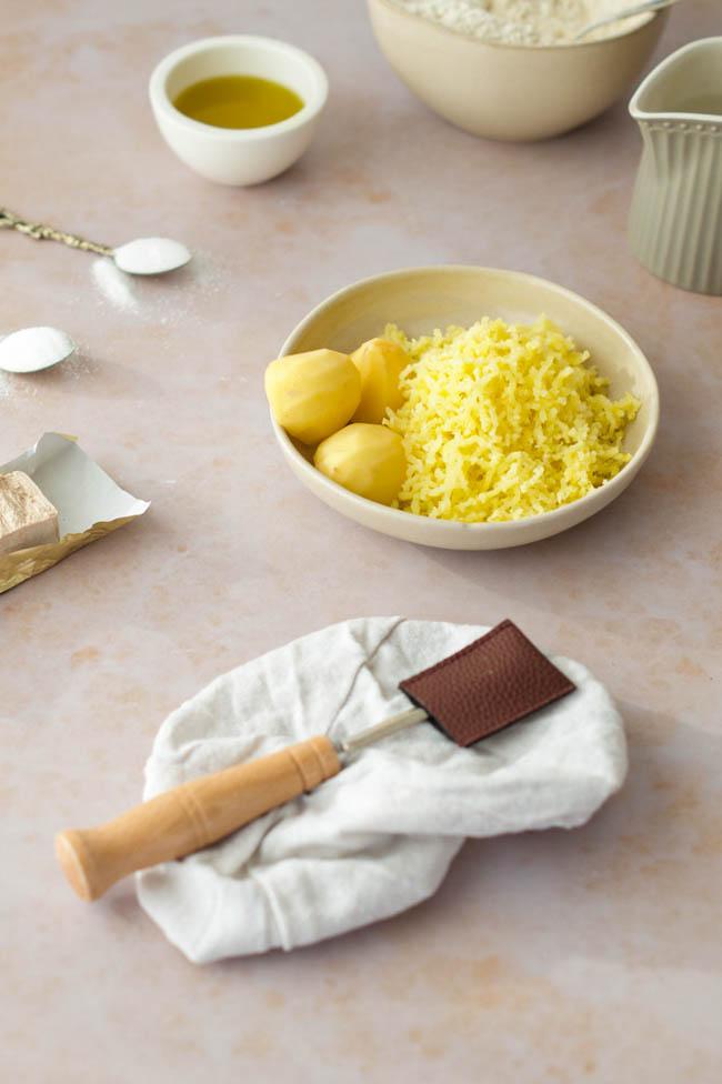 Zutaten für fluffig Kartoffelbrötchen