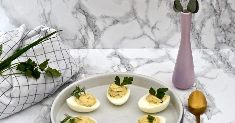 Gefüllte Eier – die ideale Verwendung für viele Eier