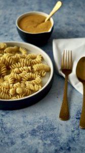 Verwertung von Kürbissuppe - vegan Mac and Cheese