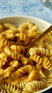 Was macht man aus Kürbisresten - vegans Kürbis Mac and Cheese