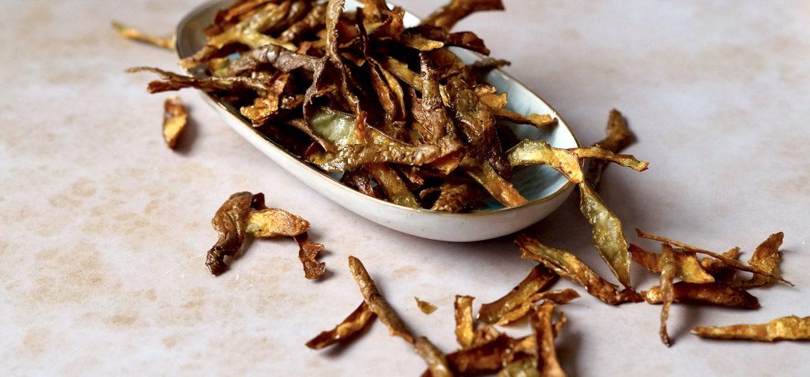 Kartoffelschalen verwerten – Kartoffelschalenchips