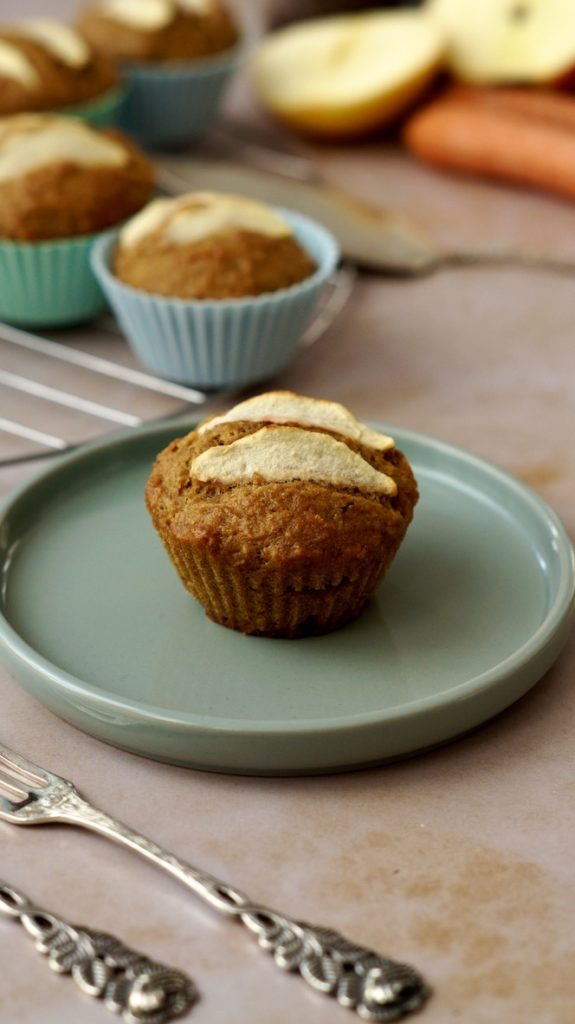 vegane Muffins Trester verwerten