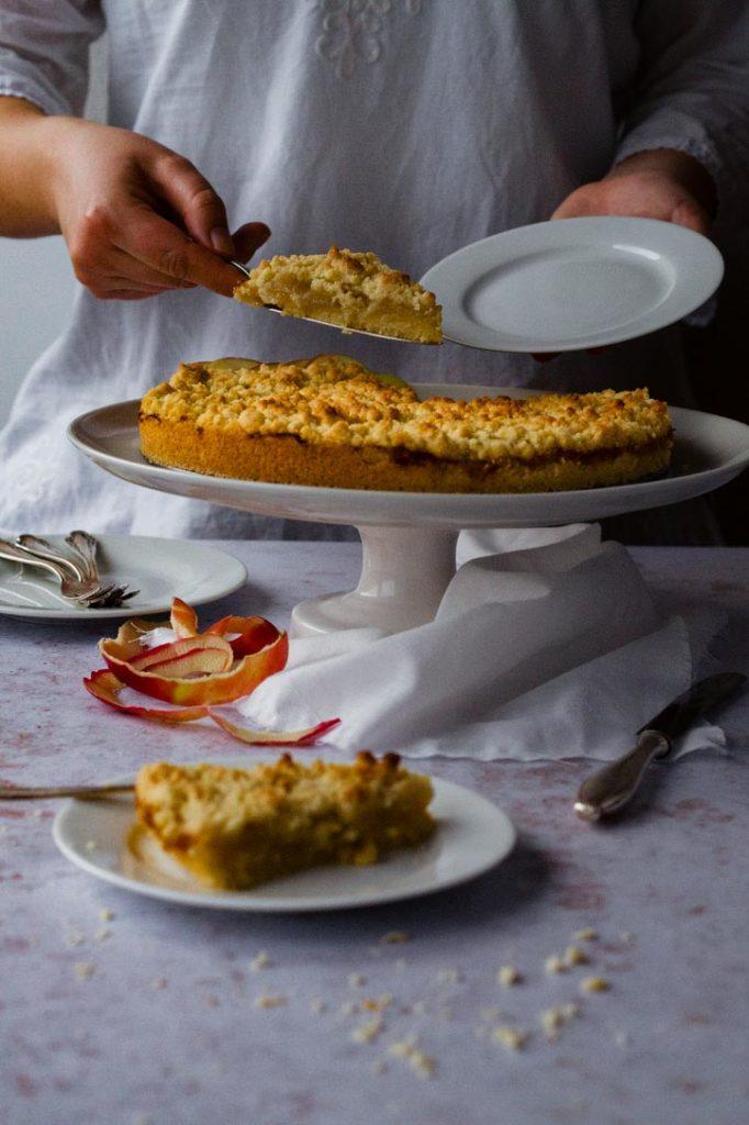Apfelmus Streuselkuchen