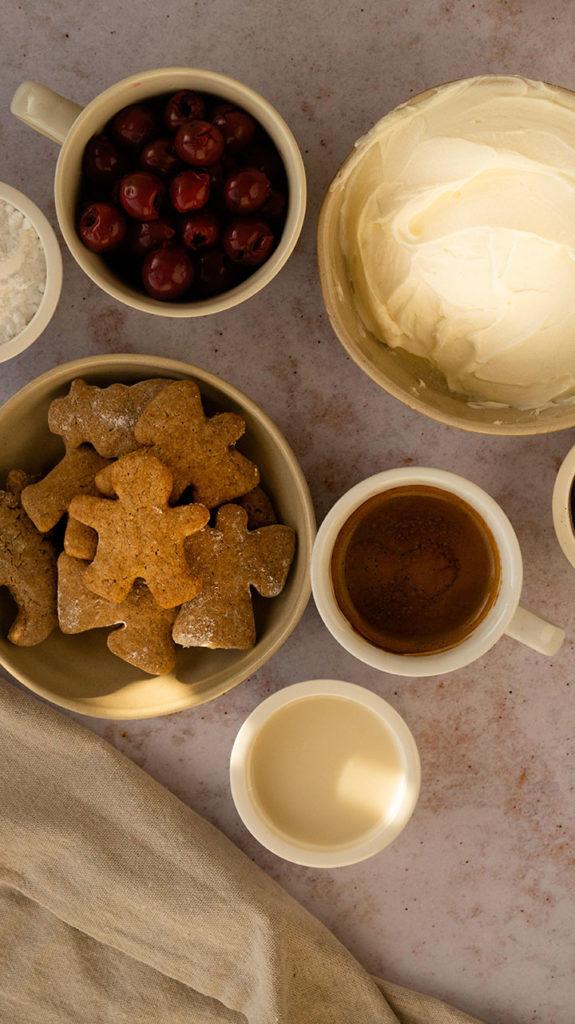 Zutaten für das Tiramisu ohne Ei