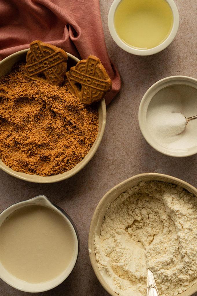 Zutaten für die veganen Spekulatius Muffins