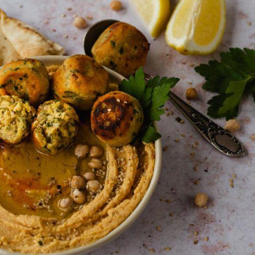 Falafel aus Kichererbsenmehl