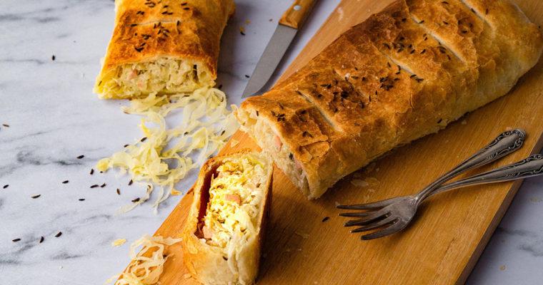 Sauerkrautstrudel – Sauerkraut Resteverwertung