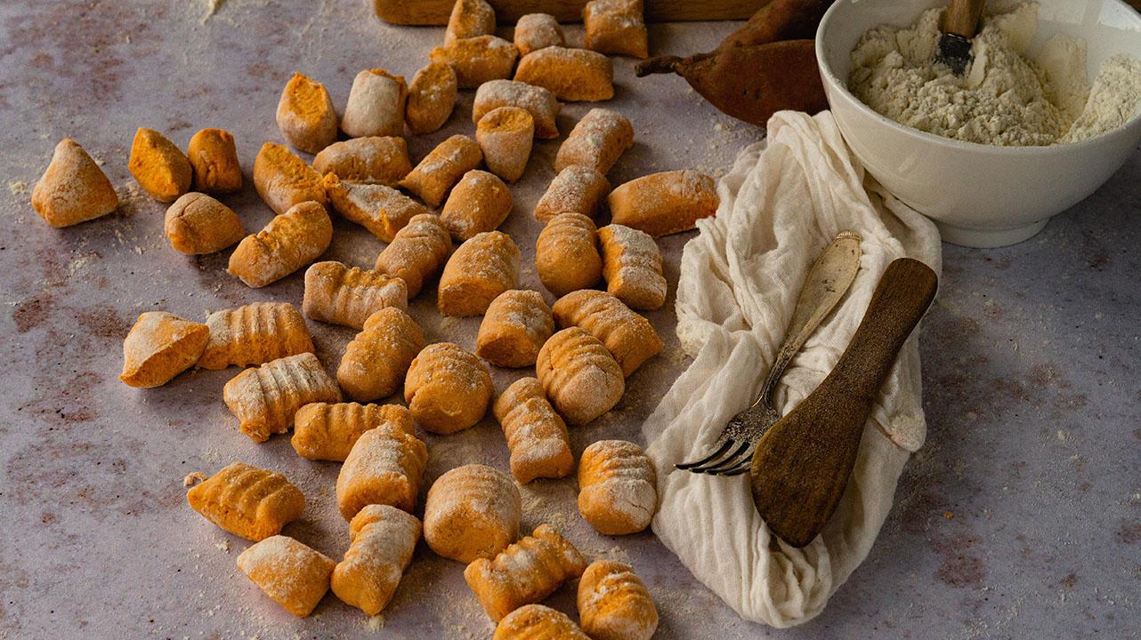 Süßkartoffel Gnocchi mit Ricotta – einfach und schnell