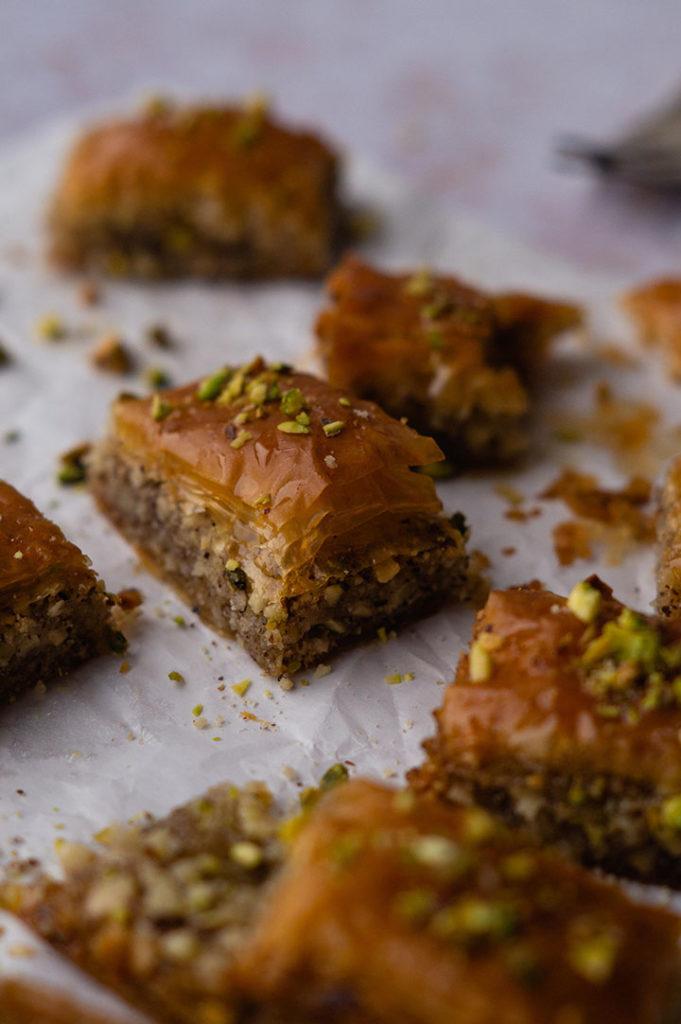 Baklava - Nüsse verwerten
