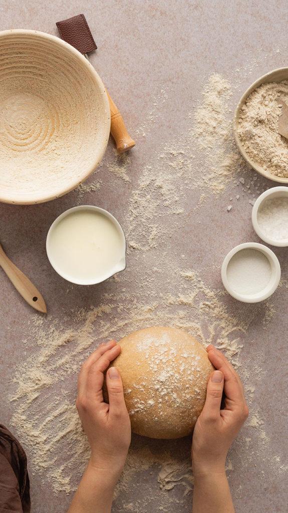 Buttermilch-Vollkorn-Brot formen