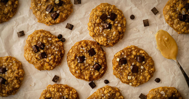 Bananen-Erdnuss-Cookies, vegan und glutenfrei