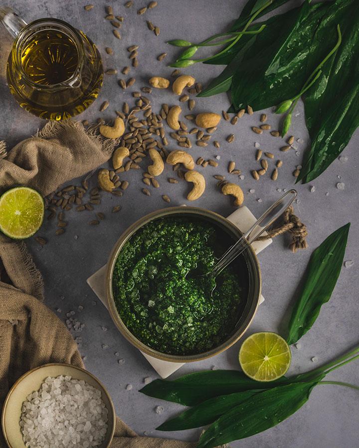 Bärlauch Pesto und die Zutaten