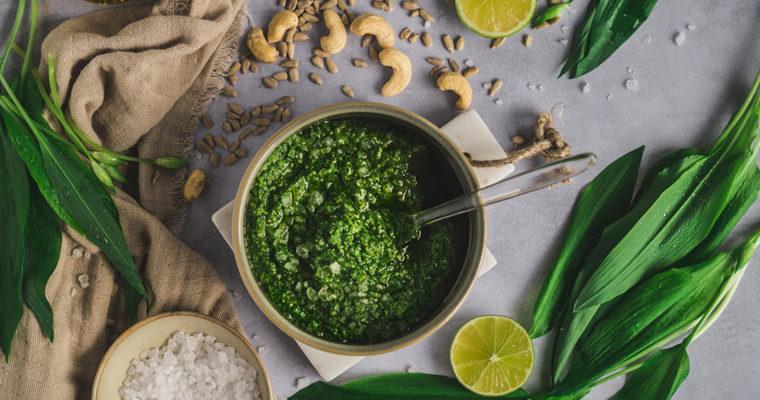 Bärlauch Pesto – selbst gemacht und vegan