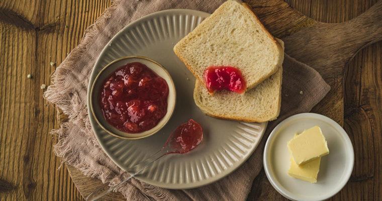 Rhabarber Marmelade mit Apfel, selbstgemacht