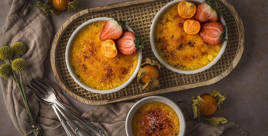 Crème Brûlée – einfaches Rezept mit 4 Eigelb