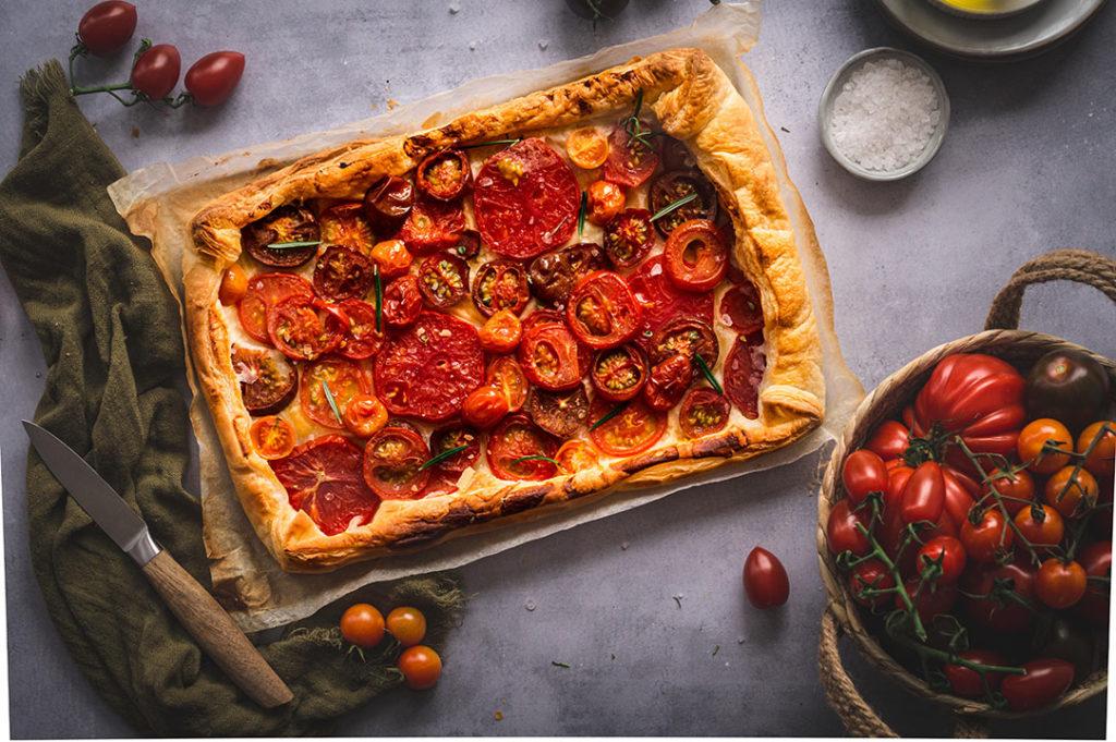 Tomaten Galette mit Blätterteig