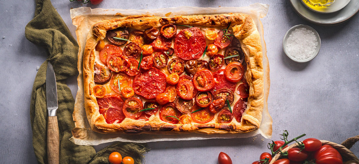 Tomaten Galette mit Blätterteig: einfach und schnell