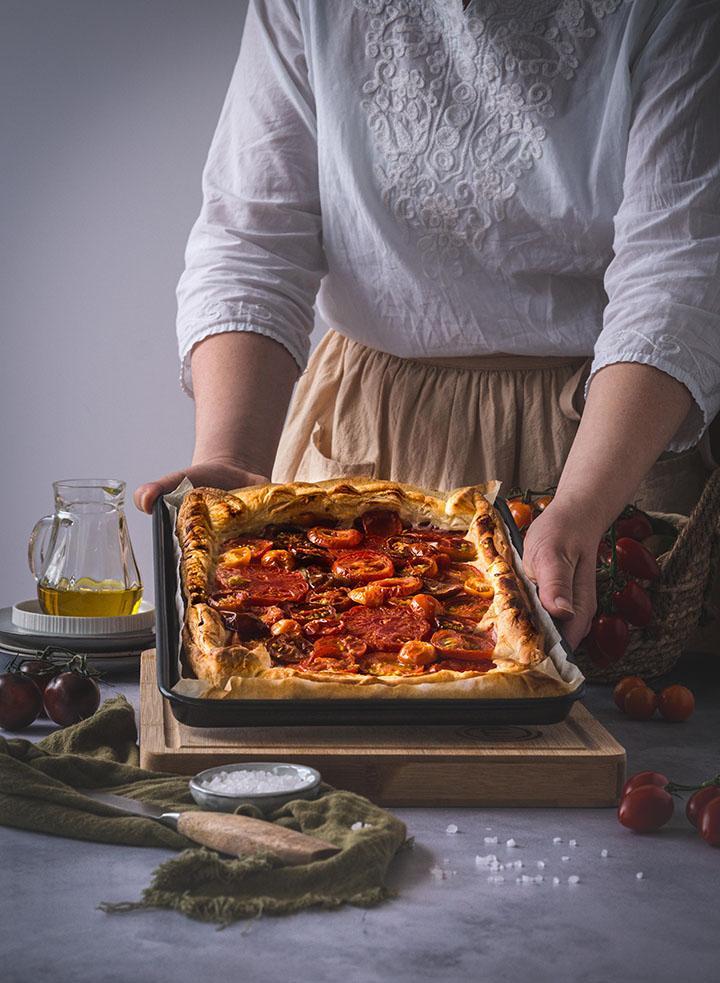 Galette mit Tomaten
