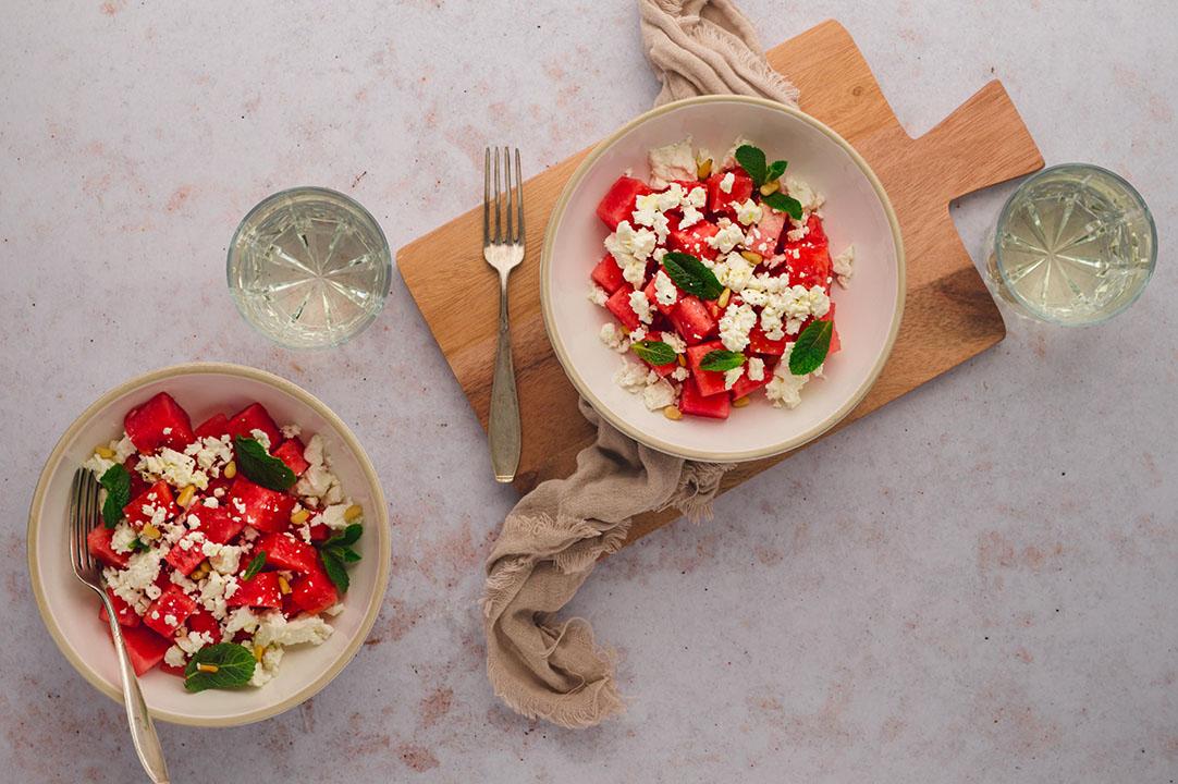 Wassermelonen Feta Salat – sommerlich leichter Genuss