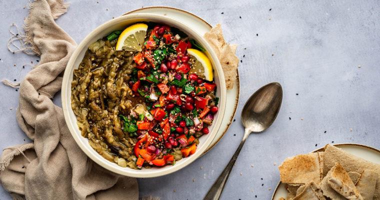 Baba Ganoush – Auberginensalat aus dem Ofen
