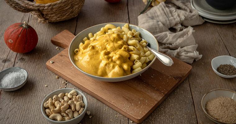 Vegane Mac and Cheese – Kürbissuppe verwerten